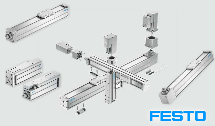 Spindle axis and toothed belt axis Festo